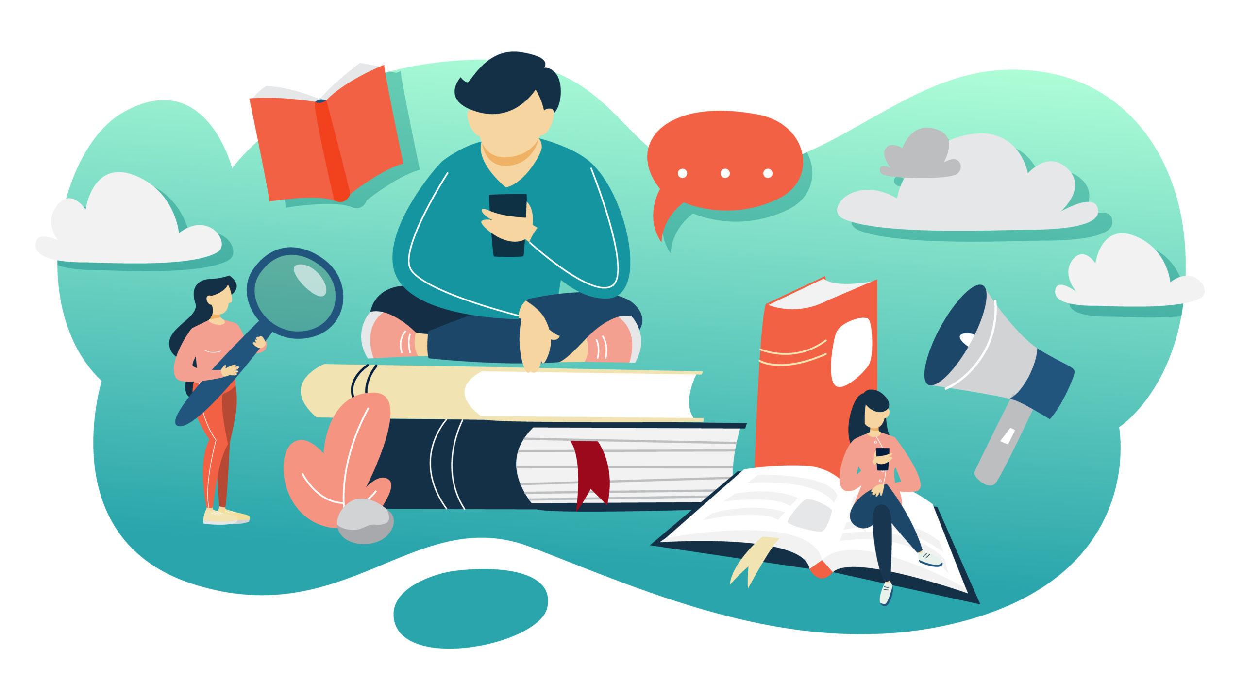 たくさん本を読む人